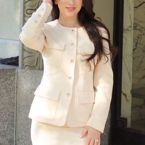 CHANEL NUDE SUIT SIZE S